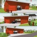 Stavba garáže a krytého parkovacího stání.